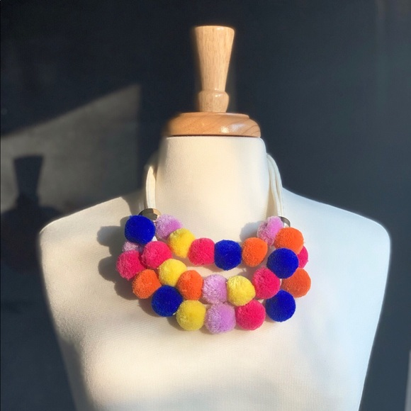 Jewelry - NEW Multicolor Pom Pom Necklace